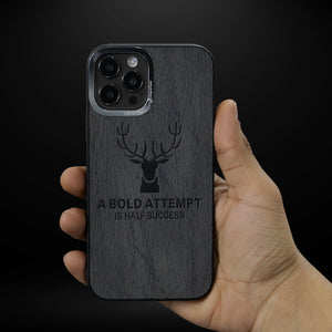iPhone 12 Pro Max Deer Pattern Inspirational Soft Case