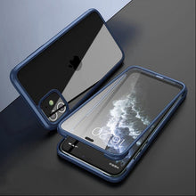 Load image into Gallery viewer, iPhone 12 (Front+Back) Hybrid Design Fiber Case