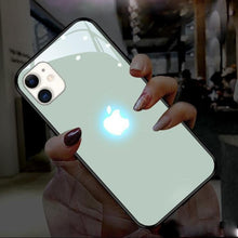 Load image into Gallery viewer, iPhone 12 LED Logo Glass Back Case