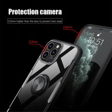 Load image into Gallery viewer, iPhone 12 Pro Shockproof Transparent Metallic Ring Holder Case