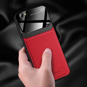 iPhone SE (2020)  Sleek Slim Leather Glass Case