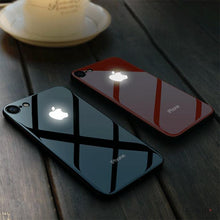 Load image into Gallery viewer, iPhone 8 LED Logo Glass Back Case
