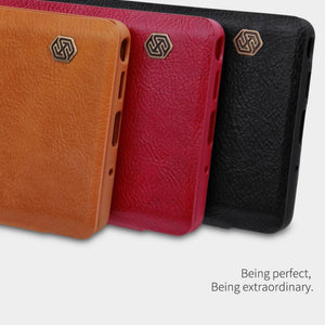 Galaxy Note 10  Genuine QIN Leather Flip Case