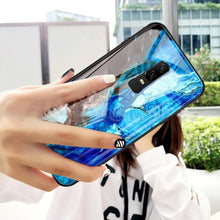 Load image into Gallery viewer, OnePlus 6 Soothing Sea Pattern Marble Glass Back Case
