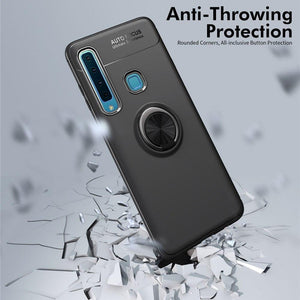 Galaxy A9 2018 Metallic Finger Ring Holder Matte Case