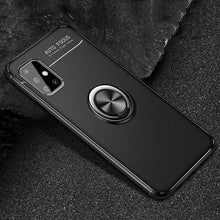 Load image into Gallery viewer, Galaxy A31 Metallic Finger Ring Holder Matte Case