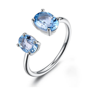 Double Topaz Ring