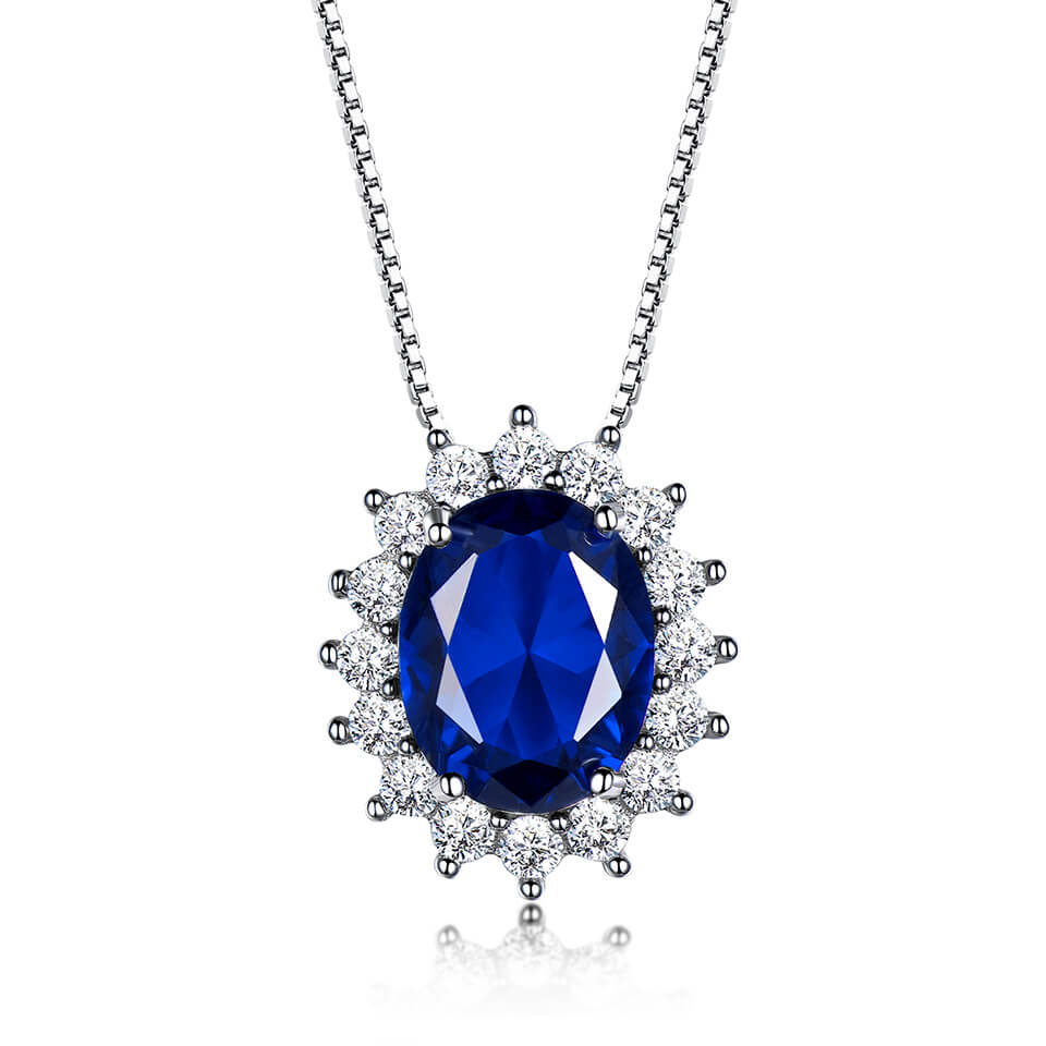Load image into Gallery viewer, Diana Sapphire Pendant