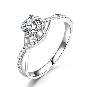 18k Natural Diamond Moissanite Engagement Ring