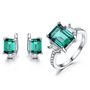 Square emerald Set