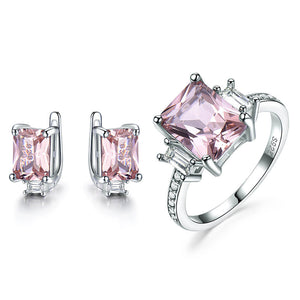 Square Morganite Set