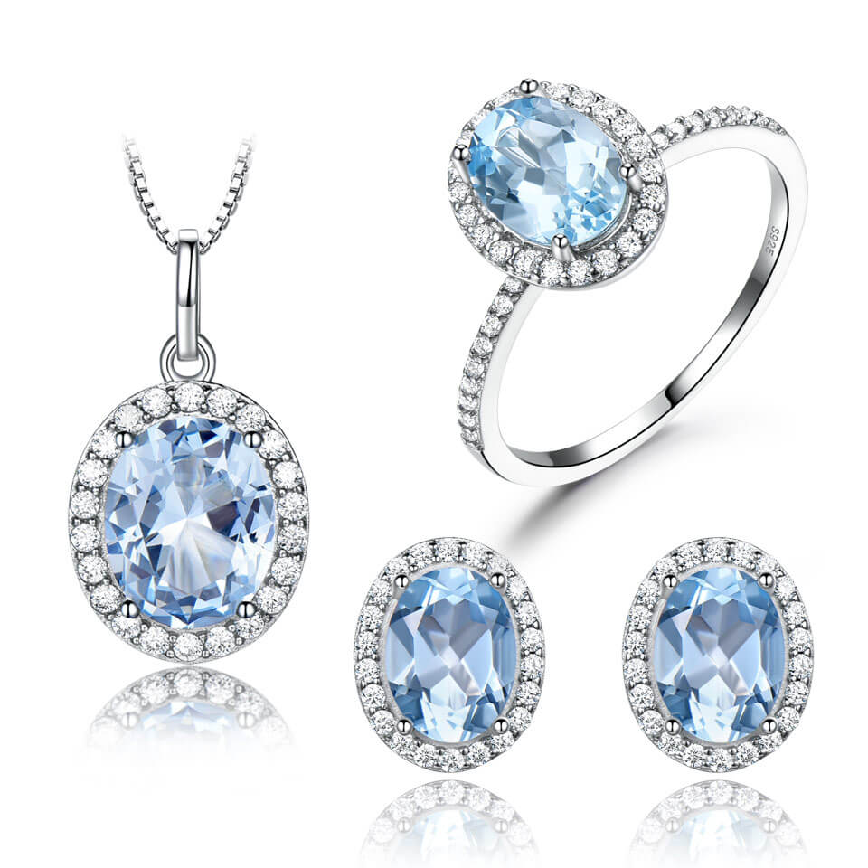 Blue Topaz Gemstone Set