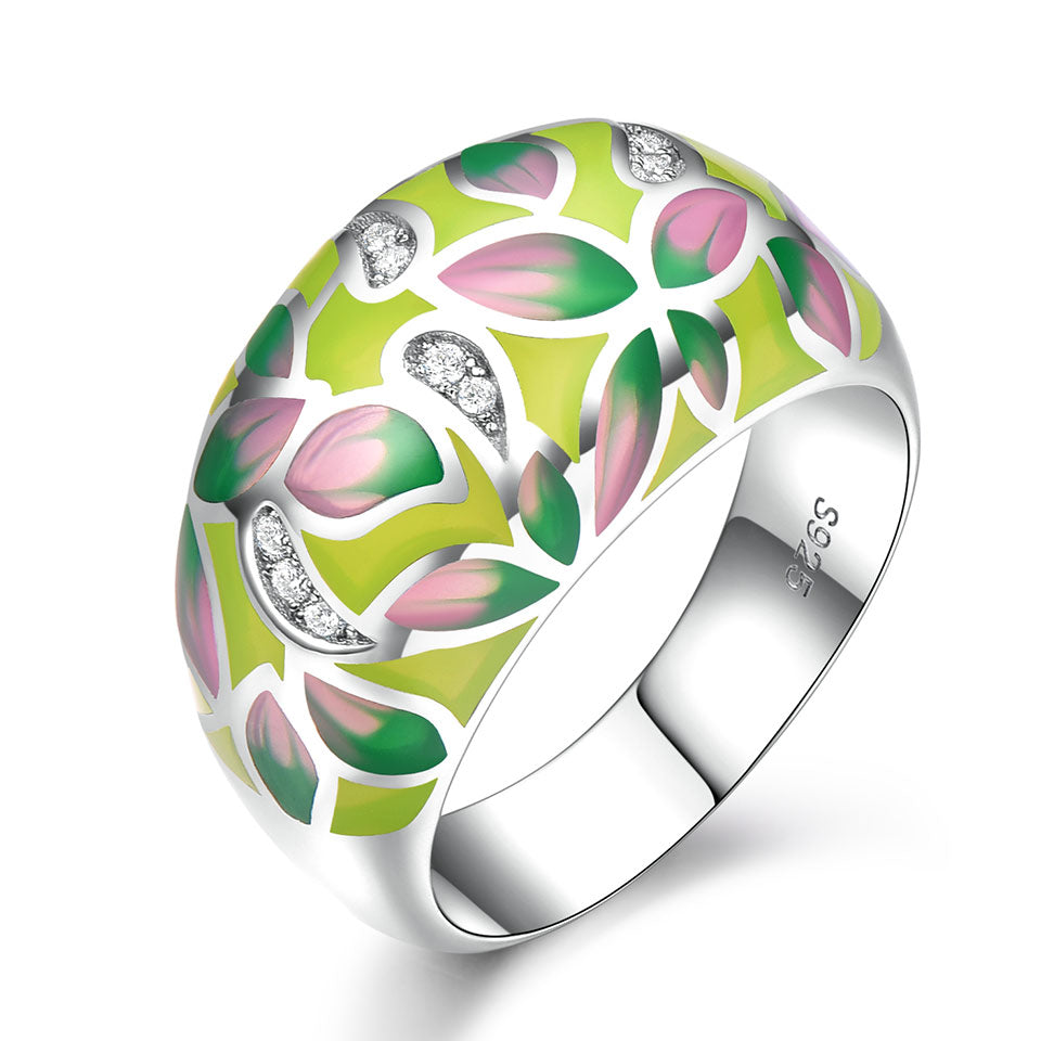 Colorful Enamel Flower Ring