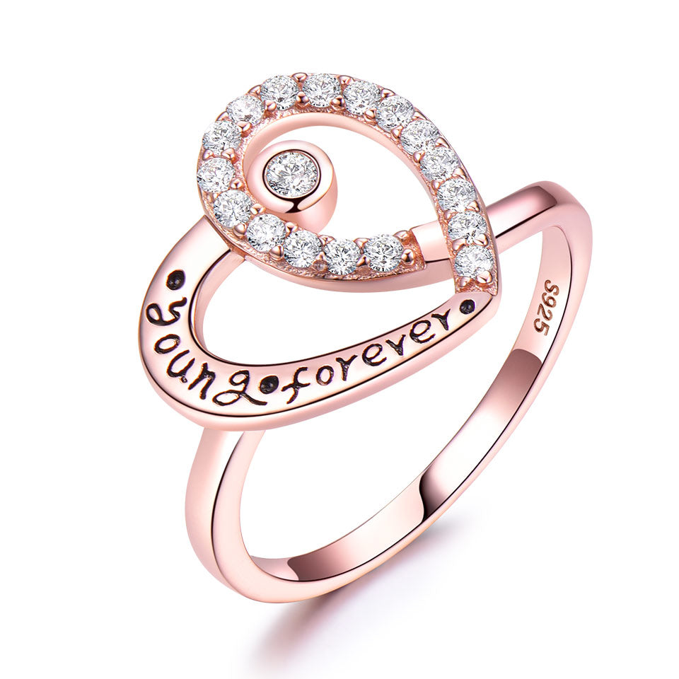 Young Forever Heart Ring