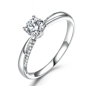18k White Gold Natural Diamond Moissanite Ring
