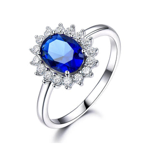 Load image into Gallery viewer, Princess-Diana-Sapphire-Ring