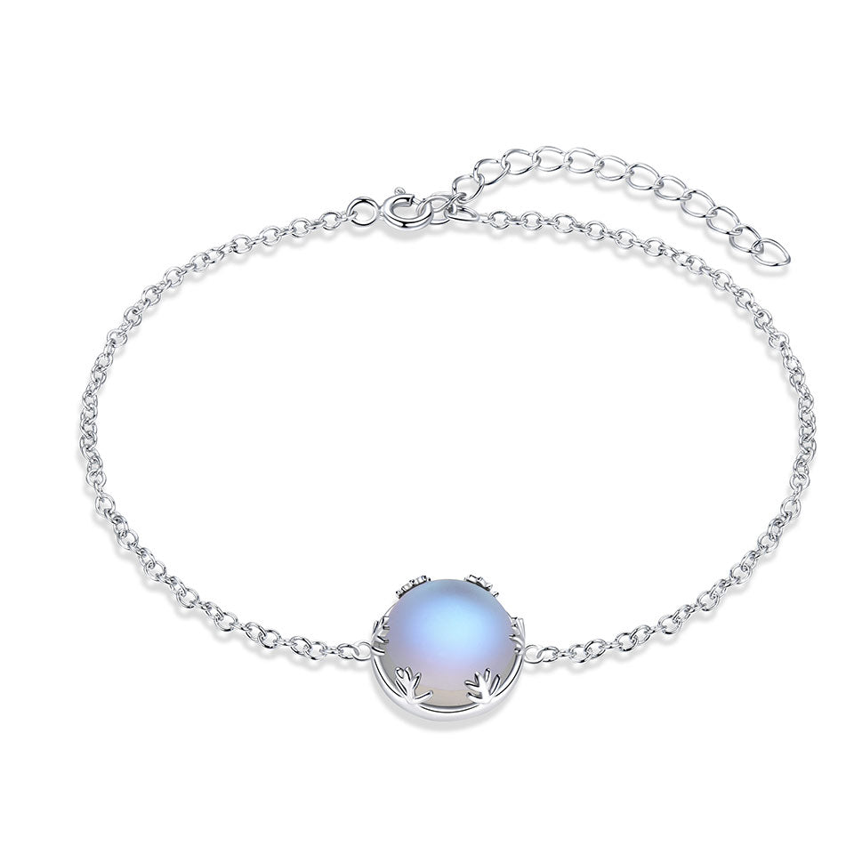UMCHO Real 925 Sterling Silver Jewelry Blue Aurora Colorful Gemstone Bracelet For Women Anniversary Gift Fine Jewelry