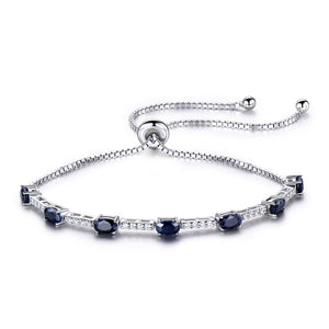 Load image into Gallery viewer, Silver Sapphire bracelet