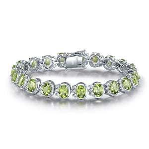Load image into Gallery viewer, Natural Peridot Bracelet