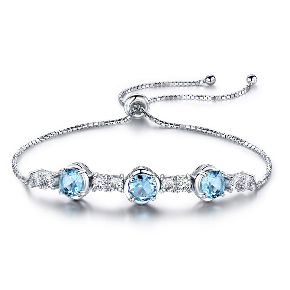 Topaz Gemstone Adjustable Bracelet