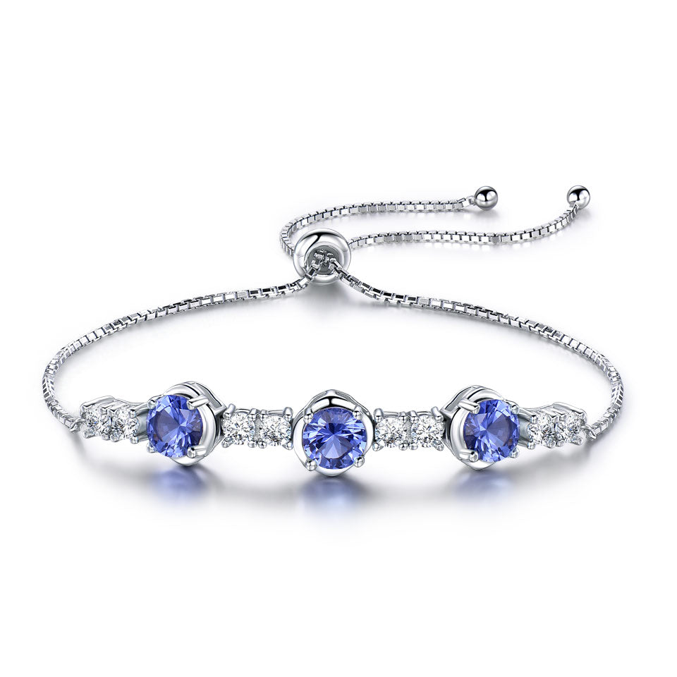 Tanzanite Adjustable Tennis Bracelet