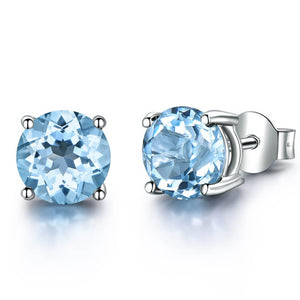 Load image into Gallery viewer, Topaz Stud Earrings