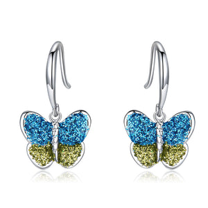 Colorful Butterfly Drop Earrings