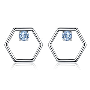 Load image into Gallery viewer, Sky Blue Topaz Stud Earrings