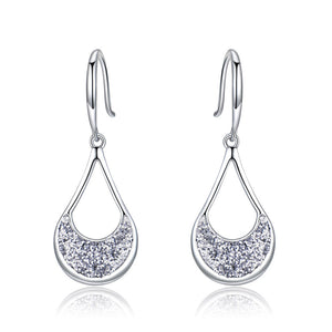 Load image into Gallery viewer, Silver Drop Earrings