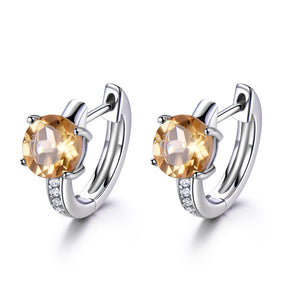 Citrine Clip Earrings