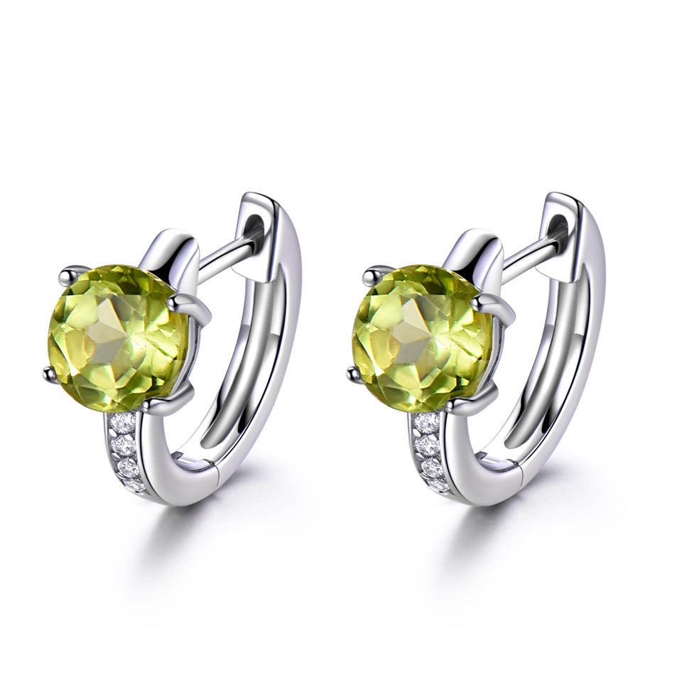 Peridoct Clip Earrings