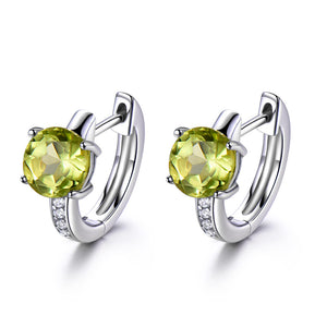Load image into Gallery viewer, Peridoct Clip Earrings