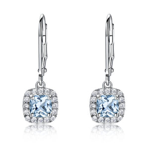 Load image into Gallery viewer, Aquamarine Topaz Earrings