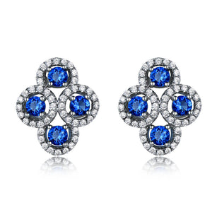 Load image into Gallery viewer, Created Sapphire Stud Earrings