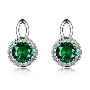 Princess Emerald Stud Earrings