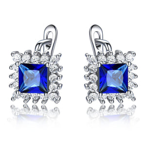 Blue Sapphire Clip Earrings