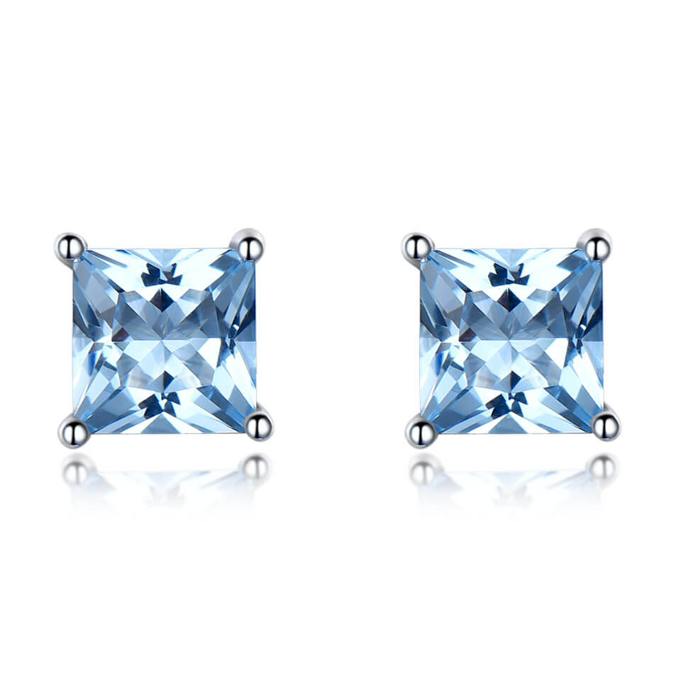Princess-Cut Topaz Earrings