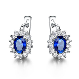 Load image into Gallery viewer, Fine Sapphire Clip Earrings