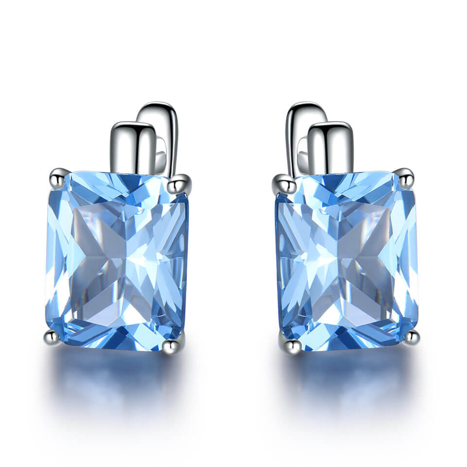 8.0ct Topaz Gemstone Clip Earrings