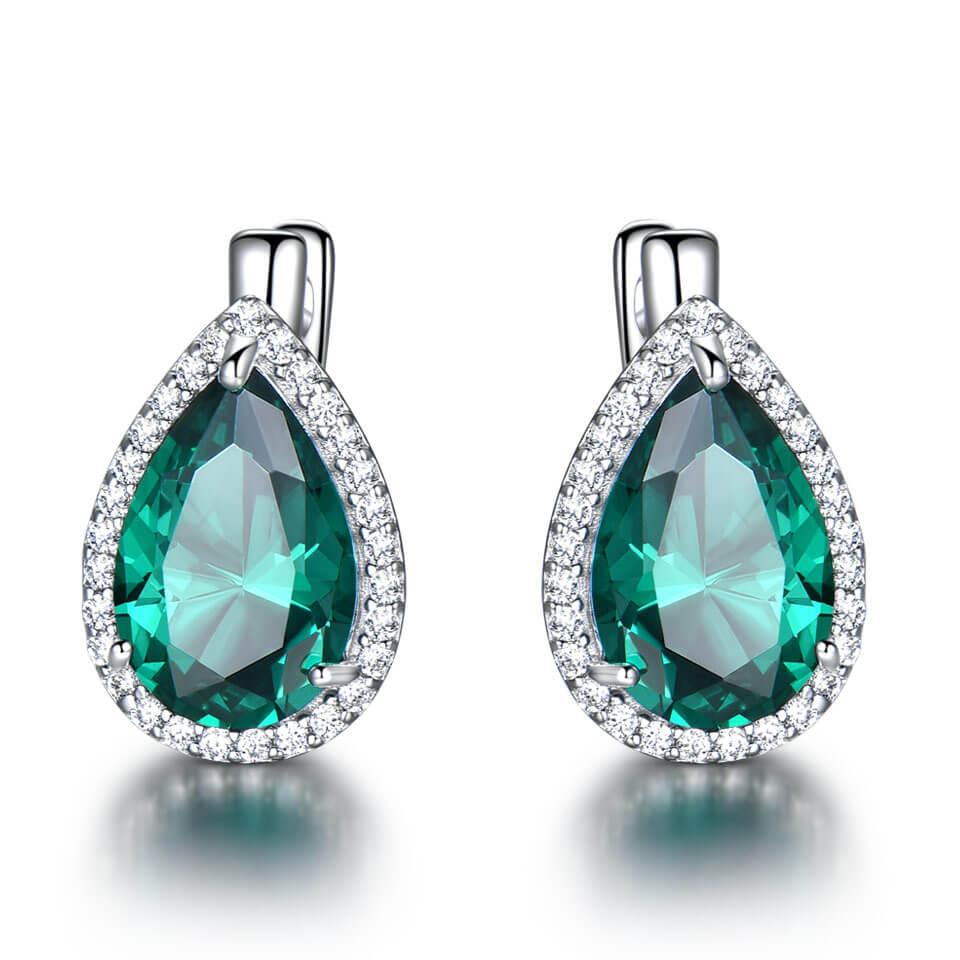 Nano Emerald Clip Earrings