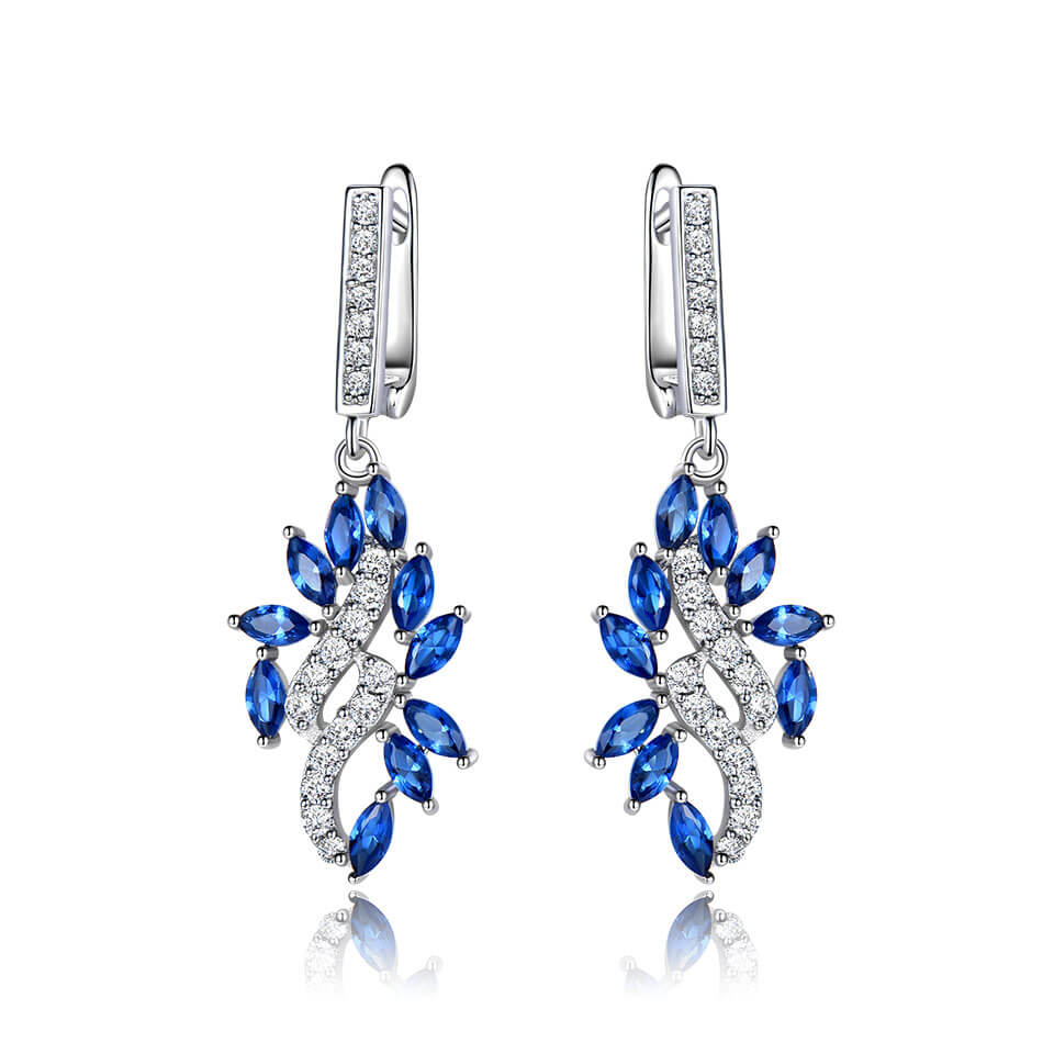 Fine Sapphire Drop Earrings
