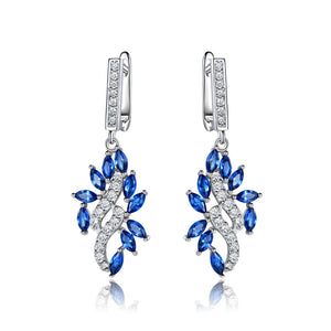 Load image into Gallery viewer, Fine Sapphire Drop Earrings
