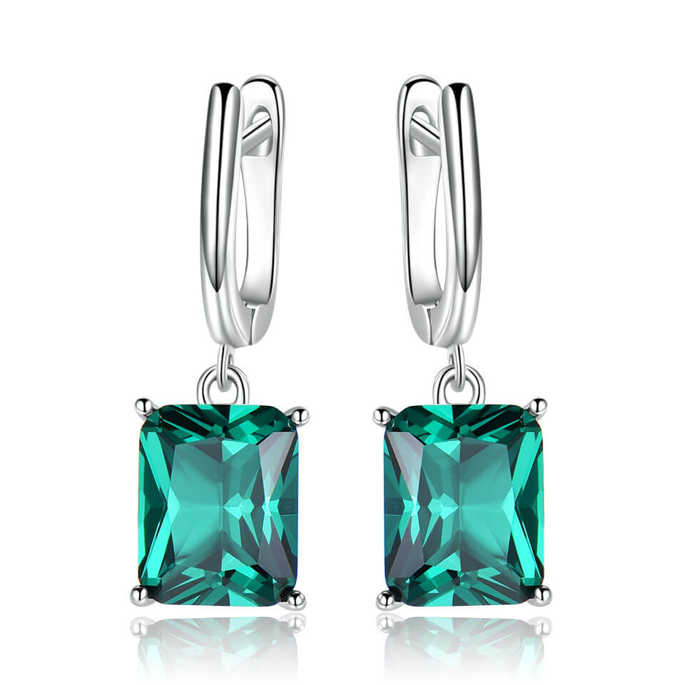 Load image into Gallery viewer, Nano Emerald Drop Earrings