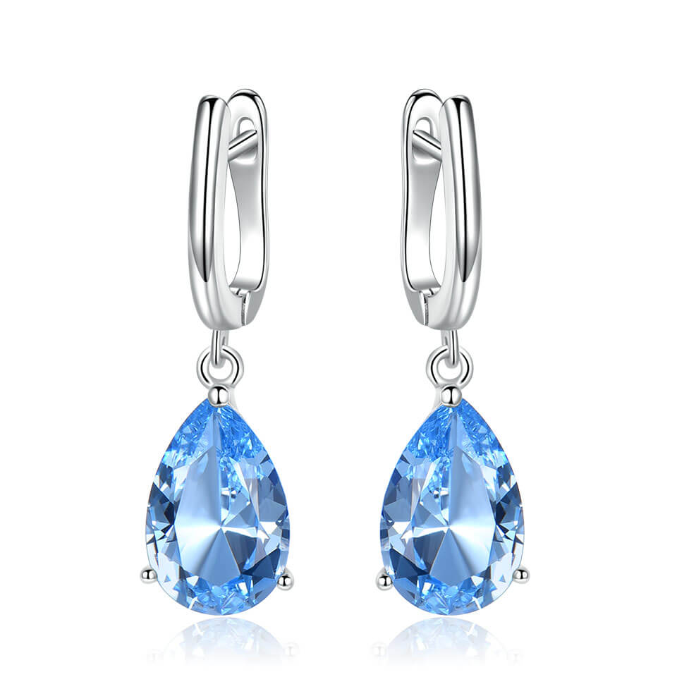 Load image into Gallery viewer, Genuine Silver Topaz Earrings