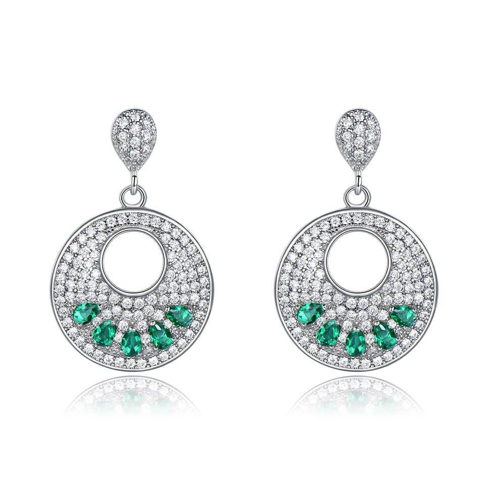 Fine Emerald Drop Earrings