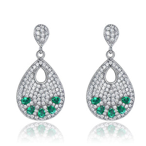 Load image into Gallery viewer, Drop Emerald Earrings