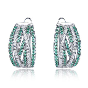 Load image into Gallery viewer, Rendy Emerald Earrings