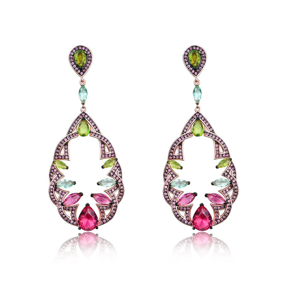 Load image into Gallery viewer, Colorful Style Dorp Earrings