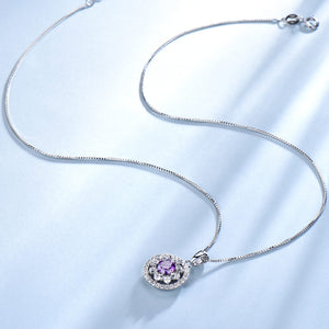 Load image into Gallery viewer, Silver Amethyst Pendant