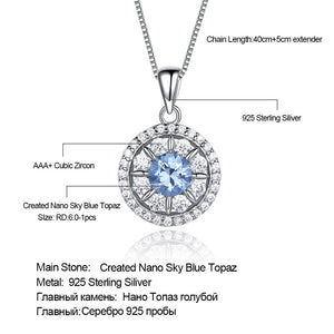 Load image into Gallery viewer, Silver Topaz Pendant